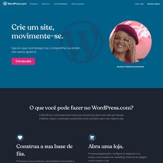WordPress.com- Crie um site ou blog gratuito