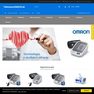 Tlakomery OMRON - predaj zdravotníckej techniky OMRON