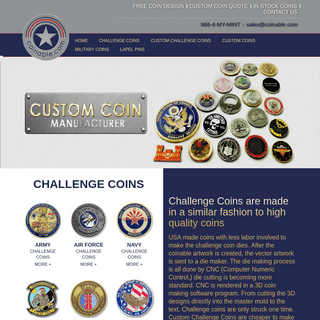 Custom Coin Makers, Coining Manufacturing, Custom Challenge Coins, Military Coins, MintCoin Maker