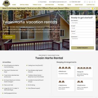 Twain Harte Vacation Rentals & Cabins - Fun Cabin Rentals (925) 963-2857