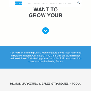 Home - CONCEPRO Digital Marketing and Sales Agency
