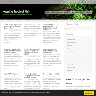 Keeping Tropical Fish - Tropical Fish Keeping Experiences and Knowledge Base