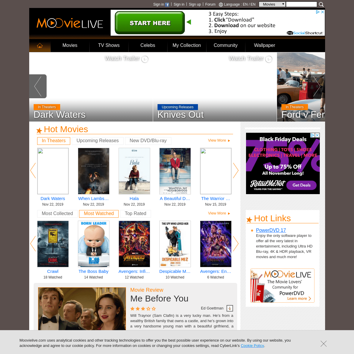 The Blu Ray And Dvd Movies Database Collect Movies Write Reviews And Share Ratings Moovielive Archived 2021 06 15