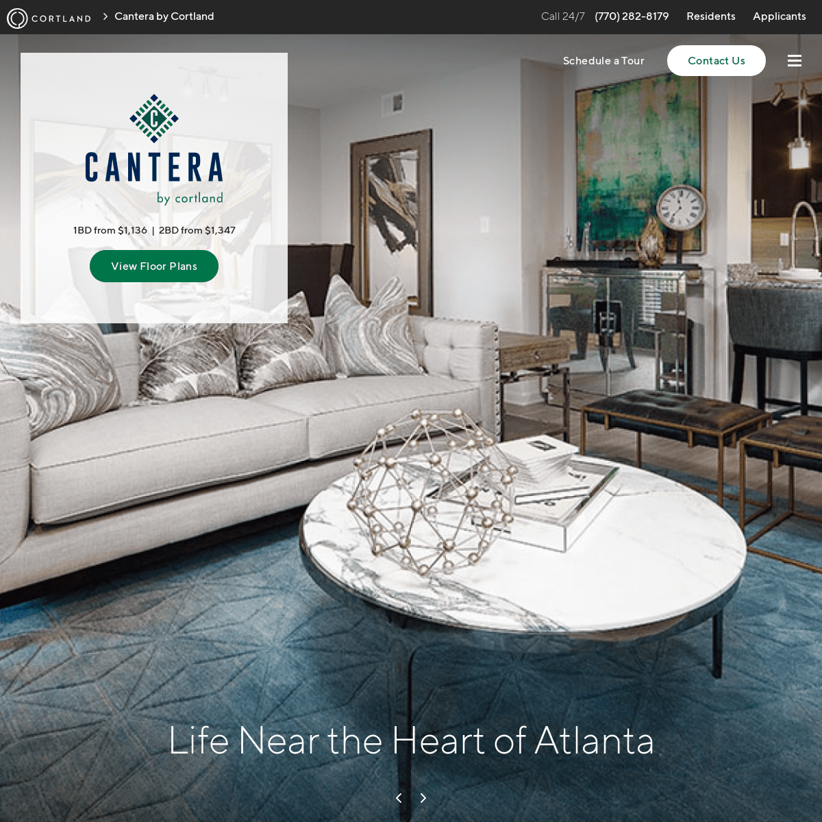 Apartments for rent in Atlanta, GA - Cantera by Cortland