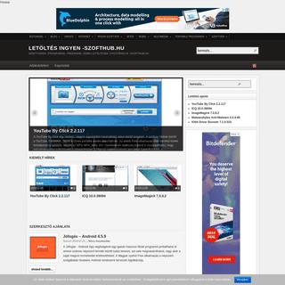 Letöltés ingyen -SzoftHub.hu - Szoftverek, programok, Freeware, Demo letöltések gyűjtőhelye -SzoftHub.hu