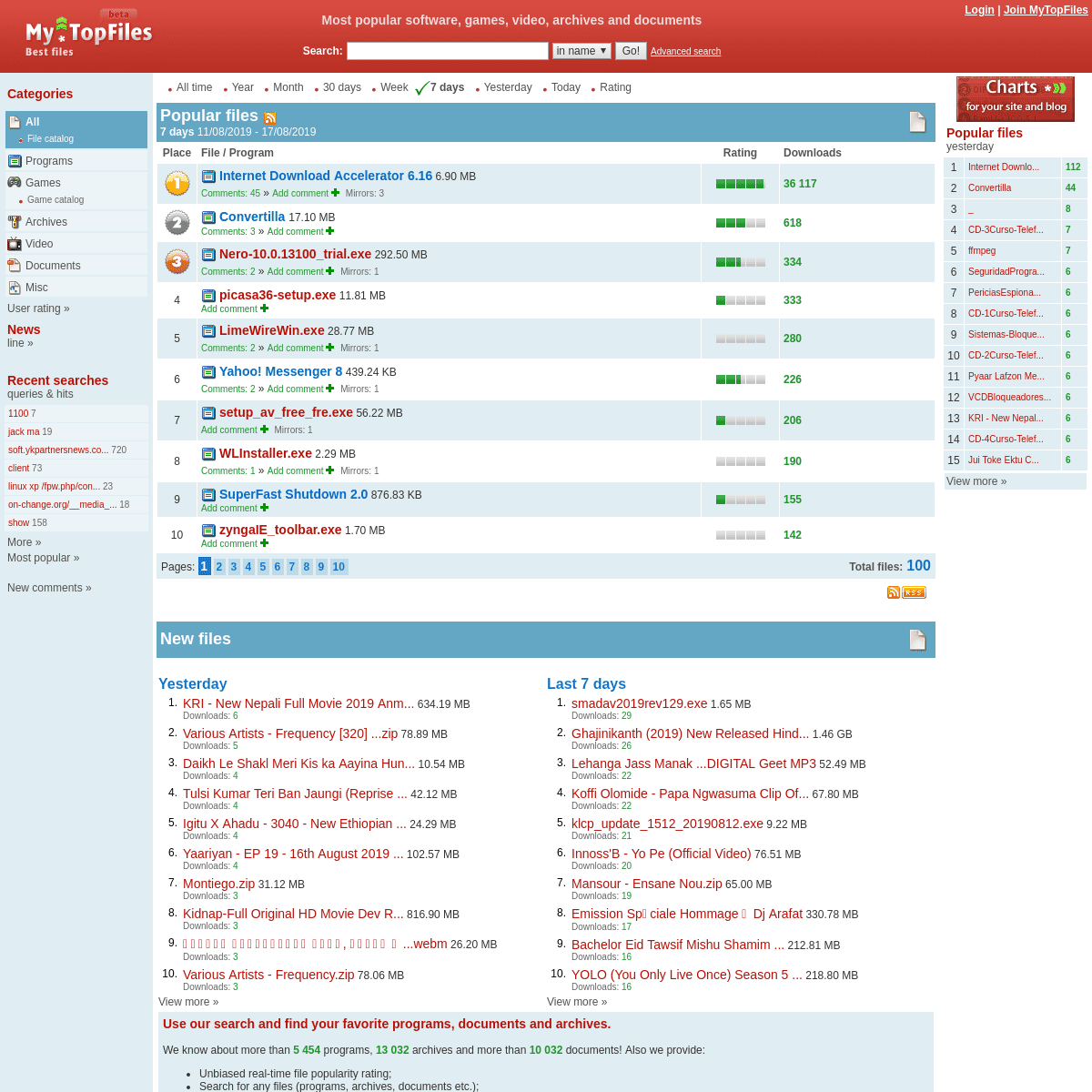 ArchiveBay.com - mytopfiles.com - MyTopFiles - Most popular software, games, video, archives and documents