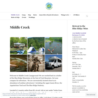 Middle Creek Campground – What excites you-
