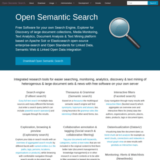 Open Semantic Search- Your own search engine for documents, images, tables, files, intranet & news