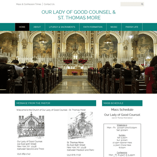 Our Lady of Good Counsel and St. Thomas More (Formerly St. Thomas More) - New York, NY