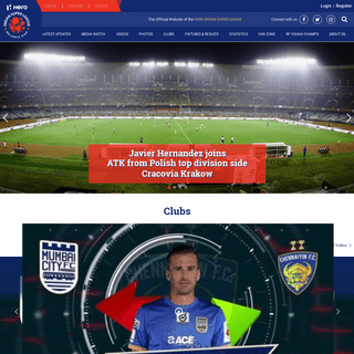 The official Website of the Hero Indian Super League - ISL - Indian Super League - News, Fixtures, Live Scores, Videos, Clubs, P