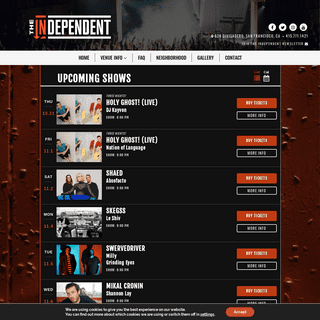 The Independent - Live Music in San Francisco, California - Home
