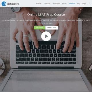 Alpha Score-Online LSAT Course & Prep Resources