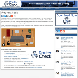 RouterCheck - RouterCheck
