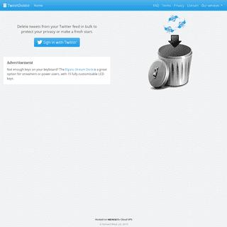 ArchiveBay.com - tweetdelete.net - TweetDelete - Easily delete your old tweets