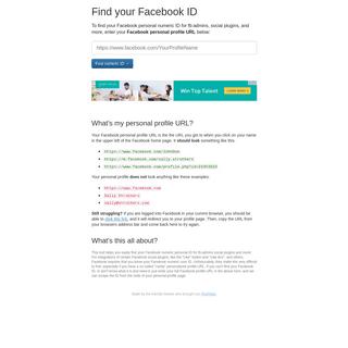 ArchiveBay.com - findmyfbid.com - Find my Facebook ID