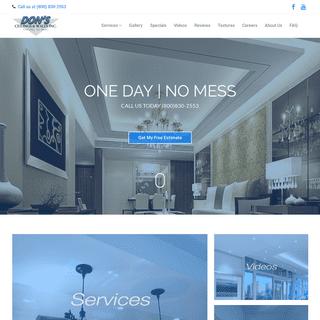 Don's Ceilings & Walls Inc. - Professional Ceiling Contractors