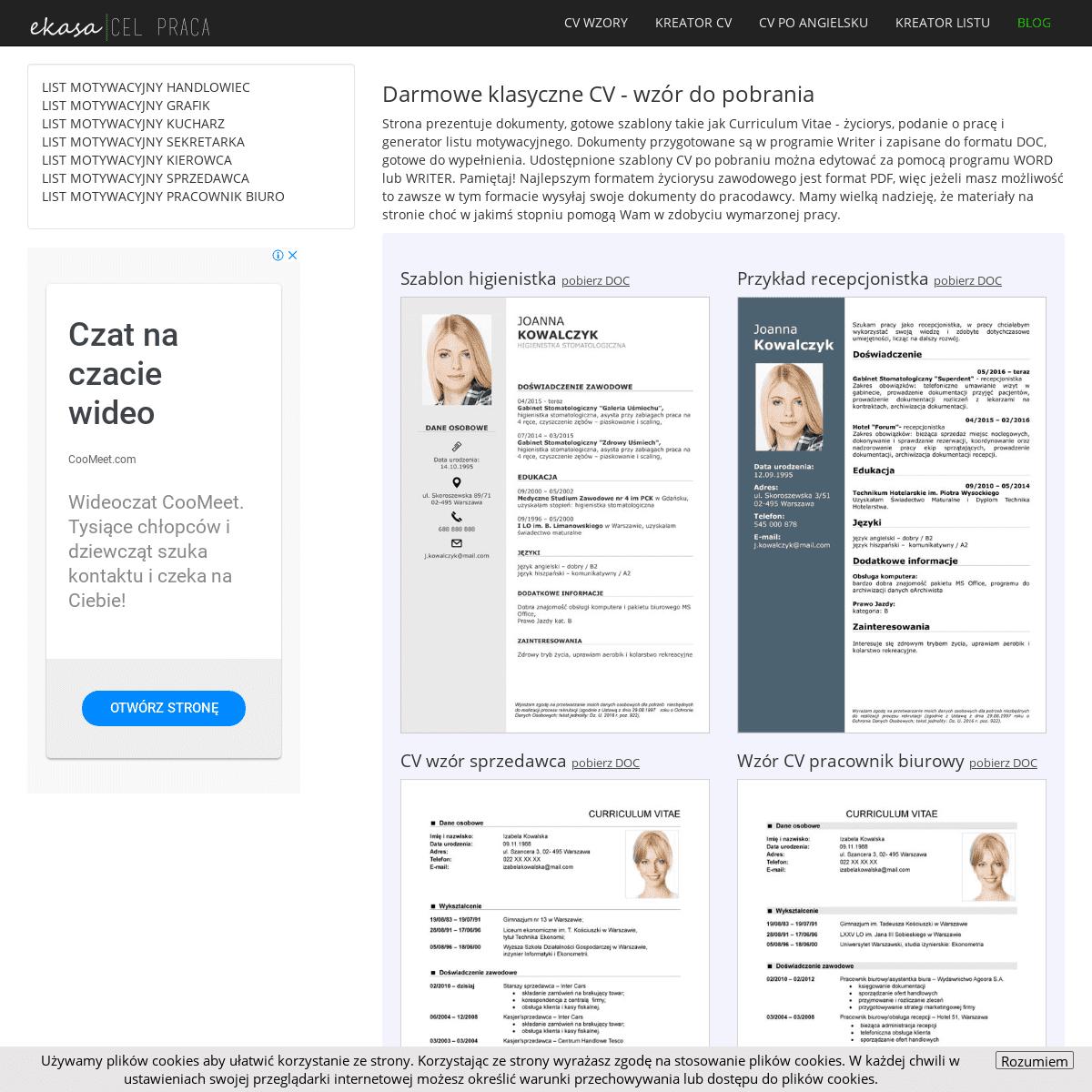 CV wzór - do pobrania gotowe przykłady