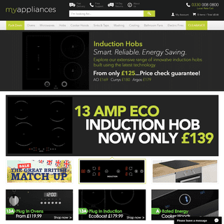 MyAppliances - Buy Built In Kitchen Appliances Online