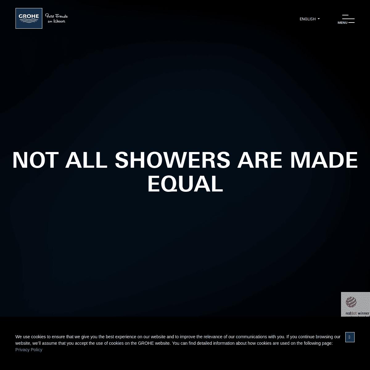 GROHE - #NotAllShowersAreMadeEqual