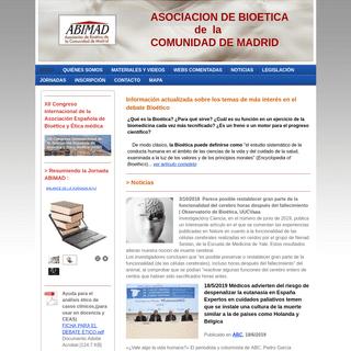 ASOCIACION DE BIOETICA DE MADRID. ABIMAD ¿Qué es la Bioética- ¿Para qué sirve- ¿Cuál es su función en un ejercicio de la