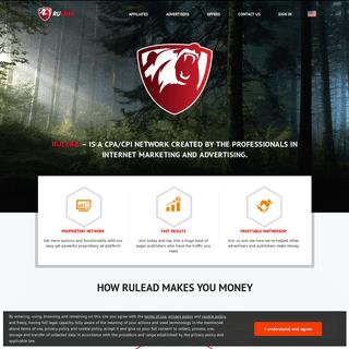RULEAD - CPA affiliate marketing network.
