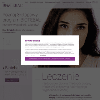 ArchiveBay.com - biotebal.pl - Poznaj 3-etapowy program Biotebal przeciw wypadaniu włosów.