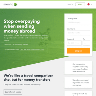 Money transfer- compare ways to send money online with Monito