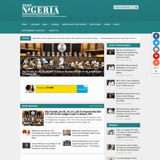 Post-Nigeria - Latest Nigeria Online News On Politics, Government, Business, today. Breaking Headlines, Top News, More News, Fro