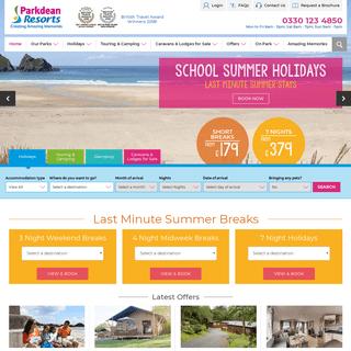 Parkdean Resorts - 67 UK Holiday Parks - Family Holidays