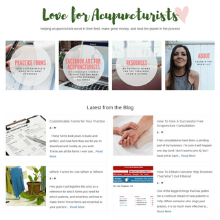 Love for Acupuncturists – Helping acupuncturists excel in their field, make great money, and heal the planet in the process.