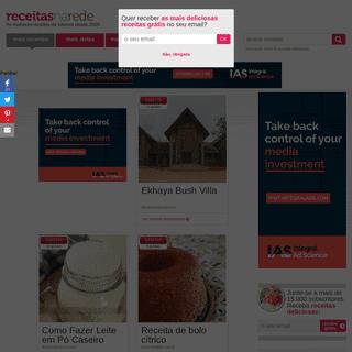 Receitas na Rede - As receitas dos melhores blogs em Português.