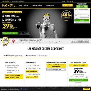 MÁSMÓVIL- Telefonía móvil e Internet - WEB OFICIAL®️