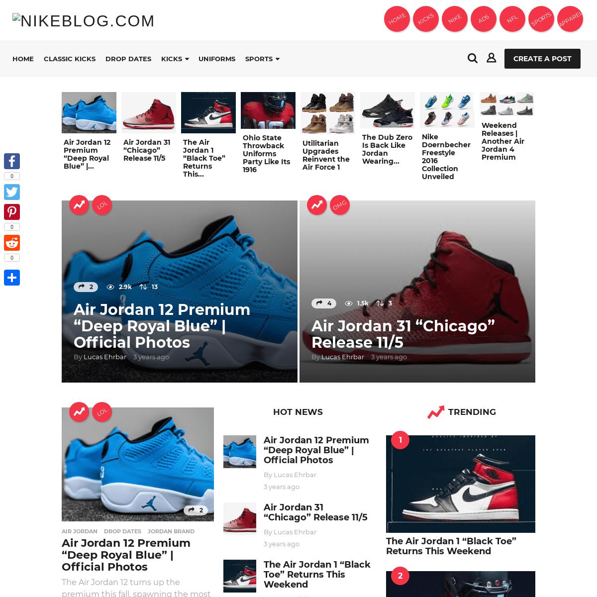 Home Page - Nikeblog.com