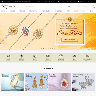 Online Jewellery Shopping Store India - Buy Gold & Diamond Jewellery Online - PC Jeweller