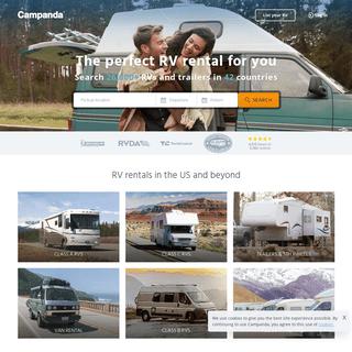 RV rental online - Book RVs and trailers worldwide - Campanda.com