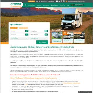 ArchiveBay.com - aussiecampervans.com - Campervan Hire Australia - Motorhome Rental Sydney, Adelaide, Brisbane, Melbourne & Perth