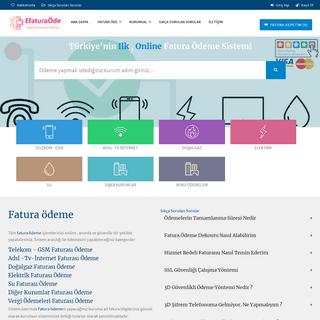Fatura Ödeme - Online Kredi Kartı ile Anında Fatura Ödeme