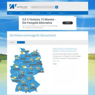 wetter.net - Wetter, Wetter aktuell, Wettervorhersage