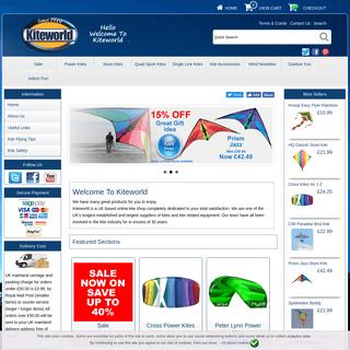 Buy Kites at kiteworld - Stunt Kites, Power Kites, Single Line Kites - kiteworld.co.uk