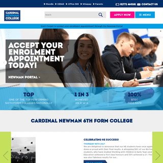Cardinal Newman College - Sixth Form, A Level, BTEC & HE