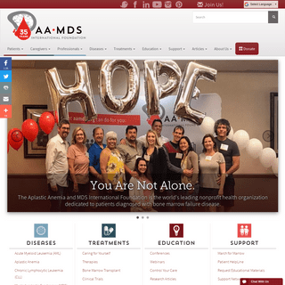 Learning is Hope - Aplastic Anemia & MDS International Foundation