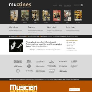 mu-zines - Music Magazine Archive