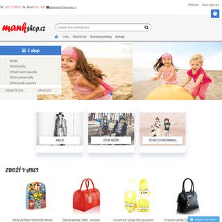 Kvalitní kabelky + levné kabelky + dětské zboží + zavazadla - mankshop.cz