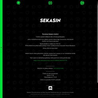 Sekasin247 chat -- sekasin247.fi