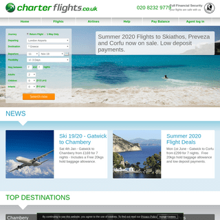 Cheap flights to Europe and worldwide [Charterflights.co.uk]