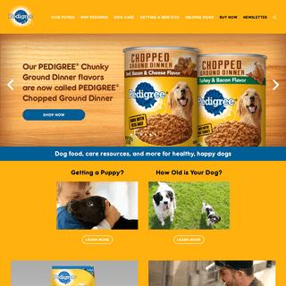 Affordable Dog Food & Dog Treats - PEDIGREE