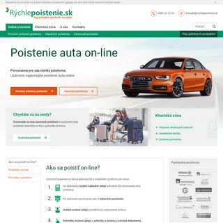 Najlacnejšie online poistenie auta - Rýchlepoistenie