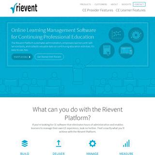 The Rievent Platform- Continuing Education Software - Rievent