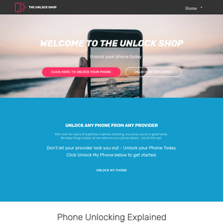 Welcome to the Unlock Shop - Fast, Simple Phone Unlocking