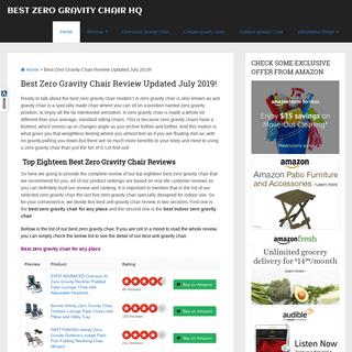 ArchiveBay.com - bestzerogravitychairhq.com - Best Zero Gravity Chair Review Updated July 2019! - Best Zero Gravity Chair HQ